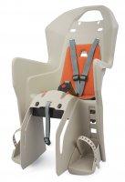 Велокресло детское Polisport Koolah, серый/оранжевый, заднее, рама