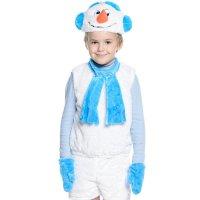 Карнавальный костюм Снеговик-10 рост 104-116
