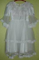 Платье-9 белое 128-134
