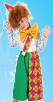 Карнавальный костюм Клоун-1 зеленый рост 116-128