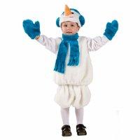 Карнавальный костюм Снеговик-1 рост 110-128