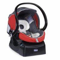 Автокресло-переноска Chicco Auto-Fix Fast с базой красное/черное