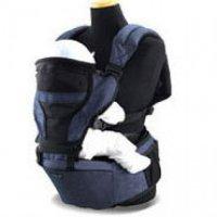 Эргохипсит Pognae Smart 3 в 1 с поддержкой для спинки синий джинс, до 18 кг