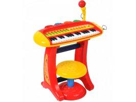 Детское пианино-синтезатор с микрофоном